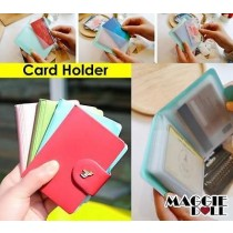 New Candy Colour Card Holder Credit card case cover Business Cards ,ID Cards[Blue]
